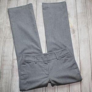 ANN TAYLOR LOFT Size 4 Curvy Gray Dress Pants
